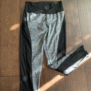 Black and Heather Gray Yoga Pants